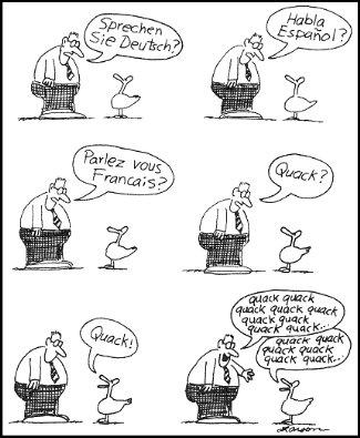 Talking to a duck, Gar Larson, The far side
